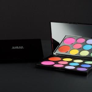 The rainbow colour pop palette (9 shadows,2 blushers)